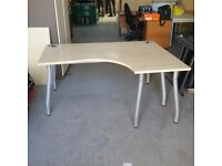 Light beech right hand desk