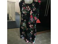 Brand new floral dress - size 14. With tags!