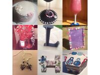 Craft parties (jewellery making, decoupage, glitter glasses)