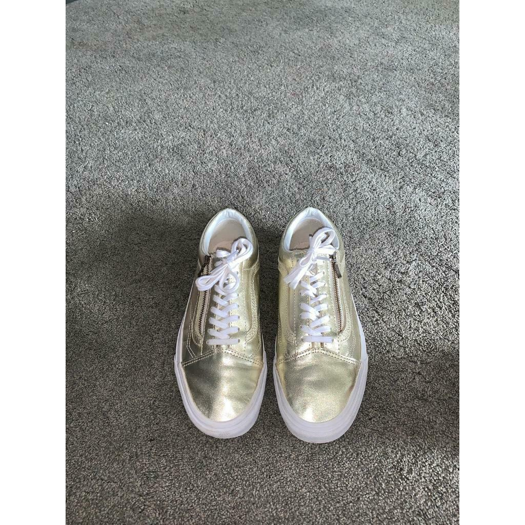 Woman gold metallic zip Old School Vans | in Cumbernauld, Glasgow | Gumtree