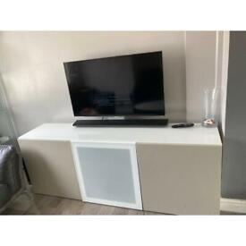 ikea tv unit with glass top