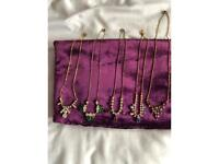 Vintage antique collection of necklaces