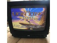 Vintage retro analogue gaming tv - colour 80s 90s