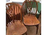 Solid old wooden chairs