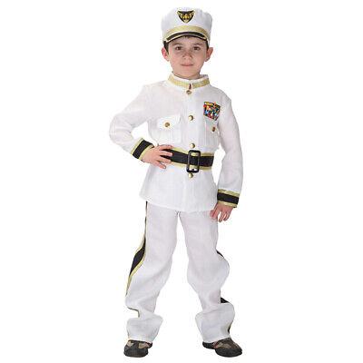 Kids White Navy Admiral Costume Soldier Outfit Hat - Kids Navy Kostüme