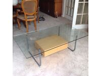 Glass coffee table, Hockley Essex