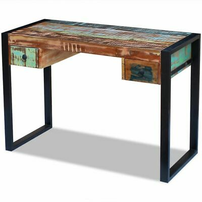 Vidaxl Desk Solid Reclaimed Wood Workstation Computer Desk Home Office Table