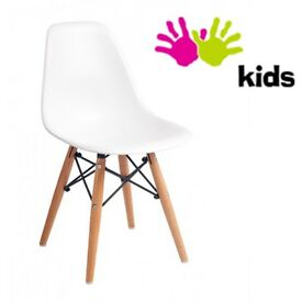 BRAND NEW Child's white chair - designer Eames