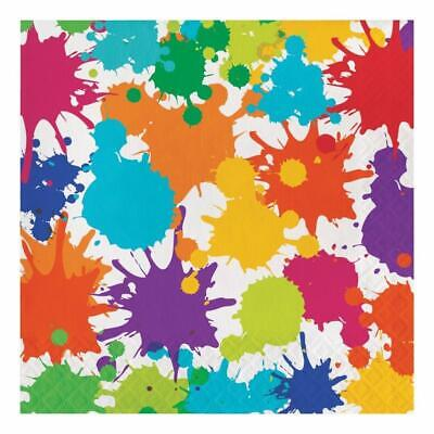 Art Party Supplies (Art Party Lunch Dinner Napkins Birthday Party Supplies 16 Per Package)