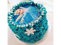 Beautiful personalised Frozen celebration cake