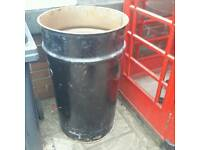 Large oil drum great as fire bin