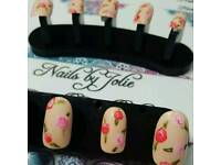 Hand painted nails by post
