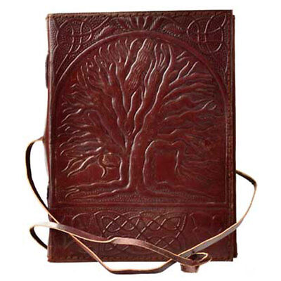 Sacred Oak Leather Journal with Cord NEW Handmade Embossed T