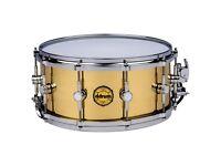 ddrum modern tone 14x6.5 brass snare drum ,new
