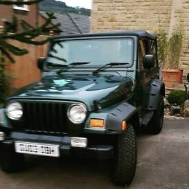 Jeep wrangler good condition aircon new roof radio cd 1years mot