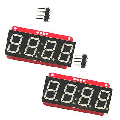 2pc 4 Digit 7-segment 0.56 Led Display Module Clock Ht16k33 I2c For Arduino