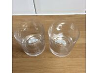 2 Dartington old fashioned crystal whisky glasses