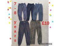 Boys joggers bundle 7-8 years