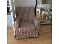 Striped armchair