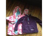 Girl's coat & fleece, age 4, Boden & Fat face