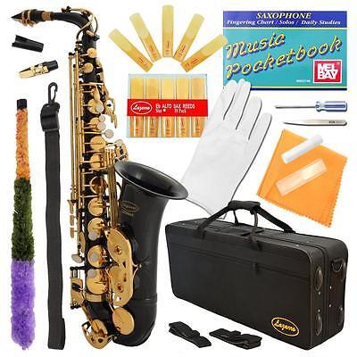 New Professional Gold Silver School Band Student Eb Alto Saxophone Sax Lazarro on Rummage