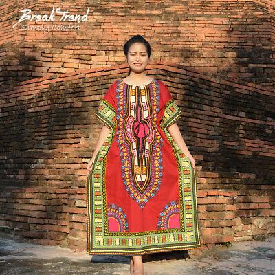 Neu Dashiki Kleid Traditionell Tribal Afrikanische Mini Abendkleider 31003