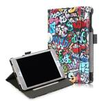 iPad Mini 5 /4 hoes - Wallet Book Case - Graffiti