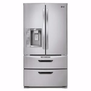 LG LMX28994ST 26.5 Cu. Ft. 4 Door Refrigerator Stainless Steel