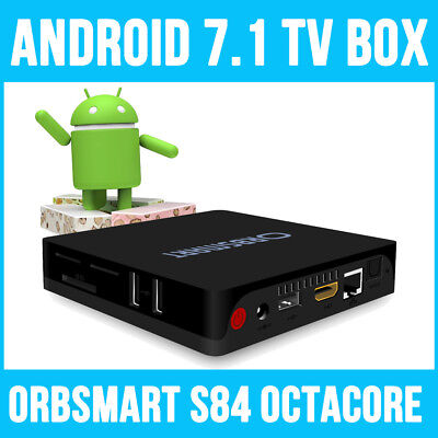 Orbsmart S84 Android 7.1 Octa-Core Mini PC / 4K Ultra HD Mediaplayer / TV Box