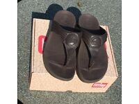 Brown Full Leather Fit Flops
