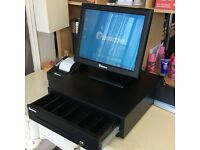 "Epos Now Pro15 ""Touchscreen"" Terminal, Secure Cash Drawer, Receipt Printer, Software & BT Hub 5."