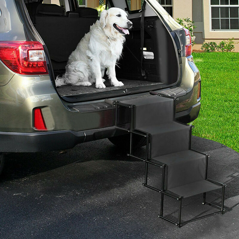Pet Dog Car Step Stairs Accordion Folding Ramp For Indoor Ou
