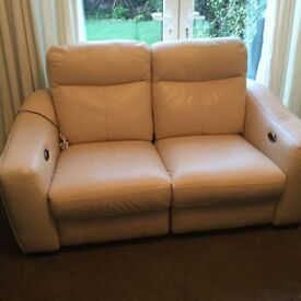 Sofa 2 seater leather electric recliner