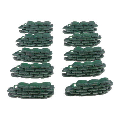 10pcs Soldiers Toy Army Base Army Men Accessories Sandbag Shelters Model