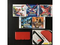 Nintendo 3ds XL Red, with 3 games