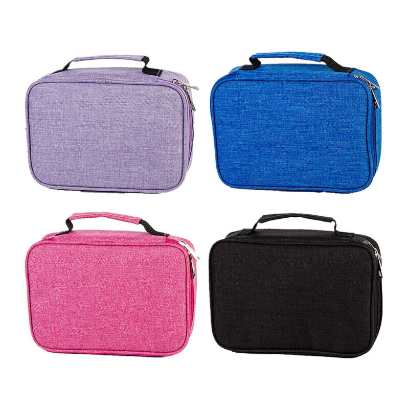 72 Slots Pen Pencil Case Pencil Holder Wrap Pen Pouch Organiser with Sleeves