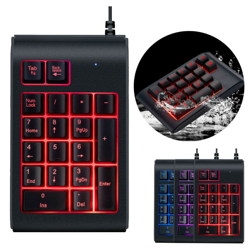 three colors rgb backlit usb wired keyboard