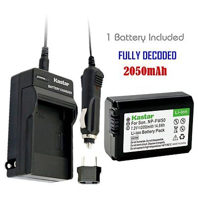 Kastar Battery And Normal Charger Kit For Sony Np Fw50 Alpha 7 Nex 7 Slt A37