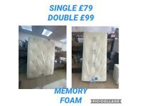 BRAND NEW THICK MEMORY FOAM MATTRESSES. SINGLE £79 / DOUBLE £99