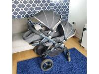 Icandy I candy peach 3 truffle double pram pushchair
