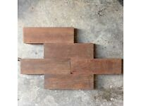 Parquet solid wood flooring (Teak?)