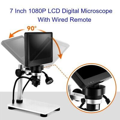 Handheld 7 Inch 1080p Digital Microscope 12mp With Video Recorder Camera Remote