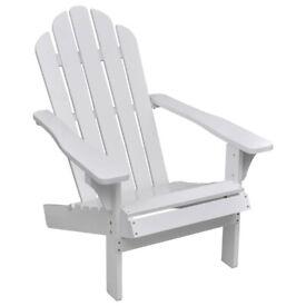 Garden Chair Wood White-40860