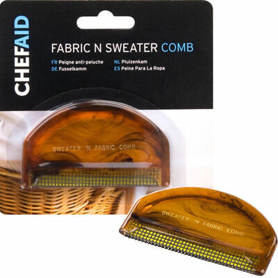 FABRIC AND SWEATER COMB SMALL HANDY COMPACT CLEAN FUFF FUZZ FLUFF CHEF AID NEW