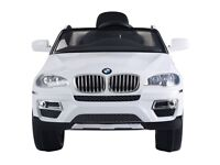 Costway Kids Electric Battery Car BMW X6 12V Ride on Remote Control Rechargeable (White & Black)