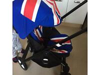 Easy walker Mini Pram With Union Jack 🇬🇧 Colour Pack