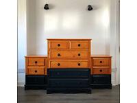 Pine bedroom furniture drawer set