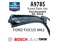 Ford Focus MK2 Bosch Aerotwin Front Wiper Blades A978S