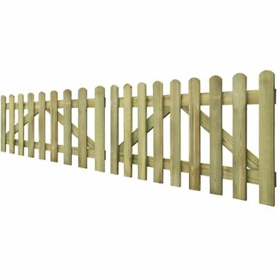 vidaXL Picket Fence Gate 2 pcs 300x80 cm FSC Impregnated Wood