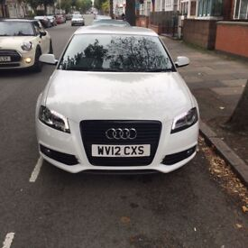 AUDI A3 S LINE WHITE 2.0 TDI BLACK EDITION